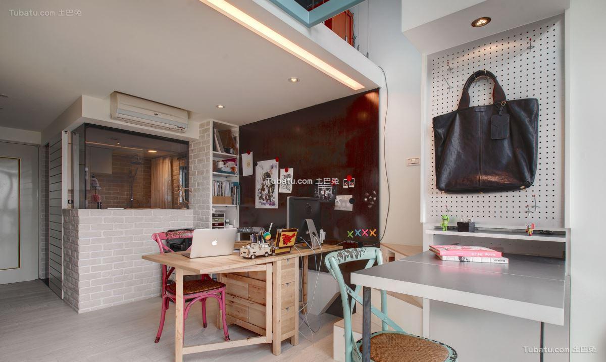 现代时尚风家居书房效果图