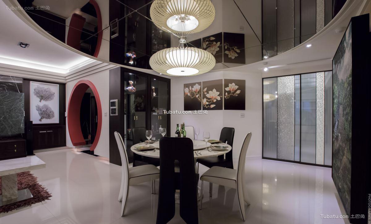 新中式家居风餐厅效果图