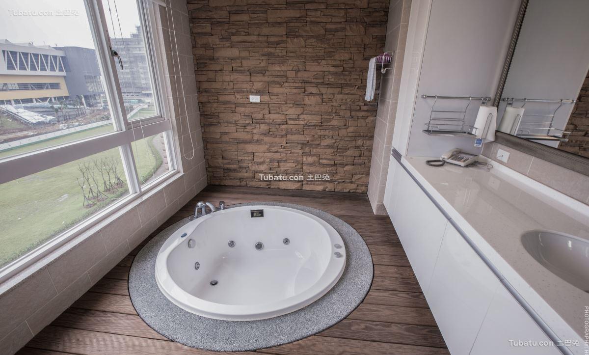 新中式家居卫浴效果图
