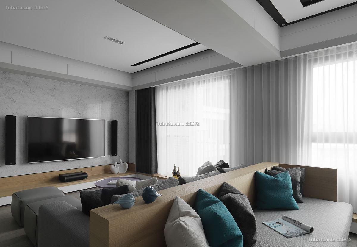 现代格调风一居室效果图