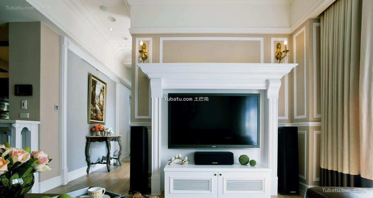 美式家居风电视背景墙效果图