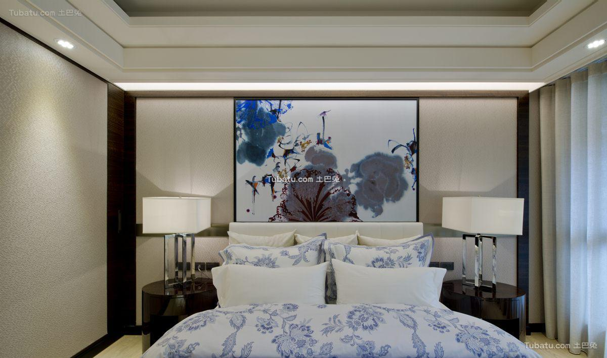 中式时尚格调卧室装修图