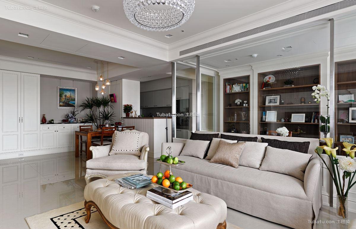 美式风情客厅装修图