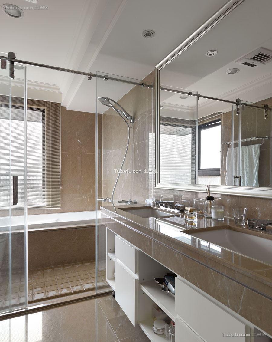美式风情卫浴装修图