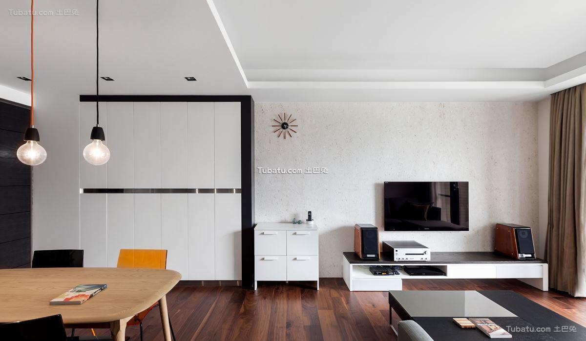 家装现代格调二居室装修图
