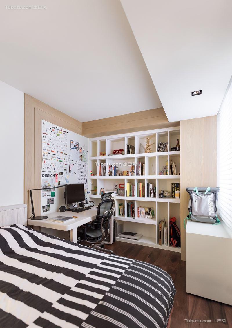 家装现代格调书房装修图
