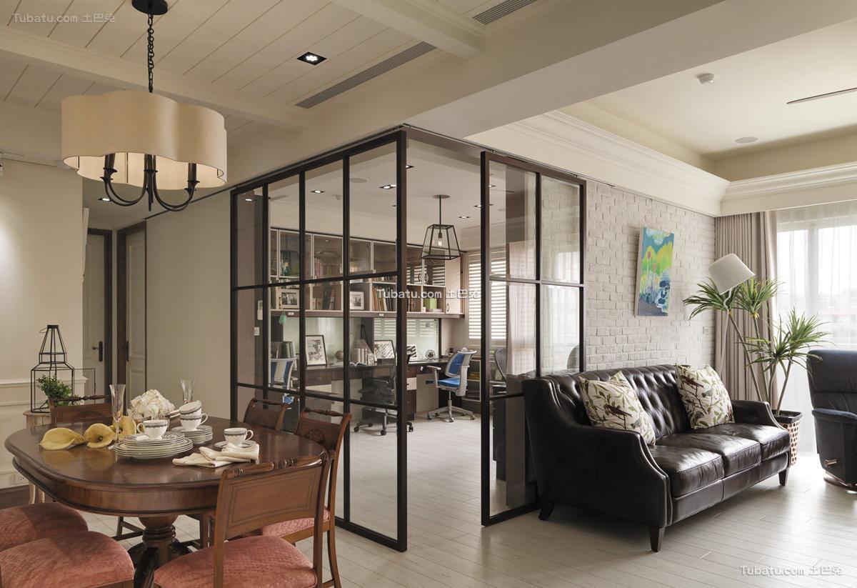 美式优雅感三居装修图