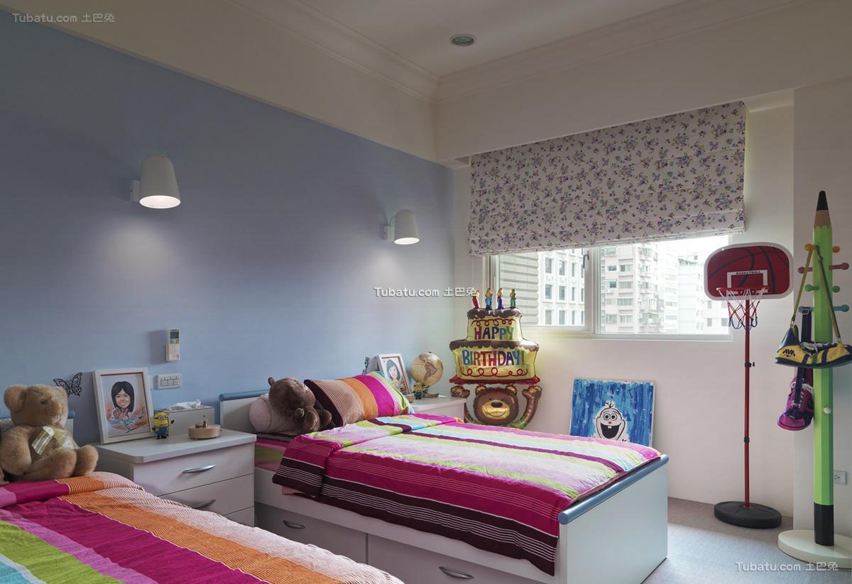 美式优雅感儿童房装修图