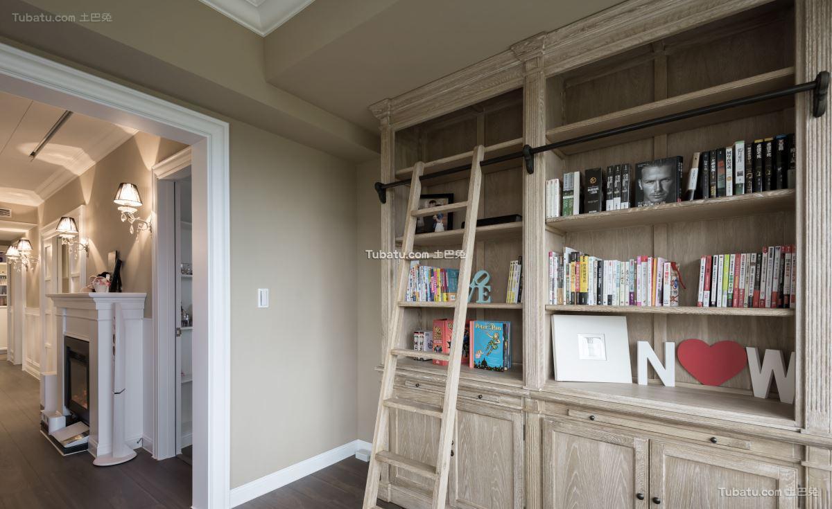 美式时尚家居书房装修图