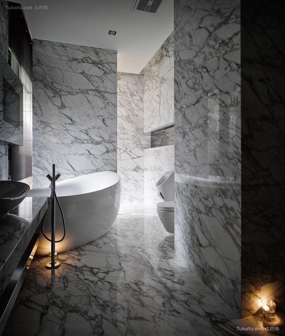 家居现代卫浴效果图