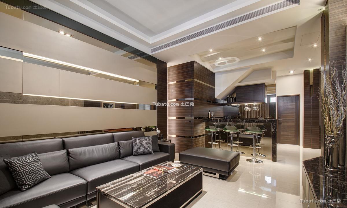 时尚风现代客厅效果图