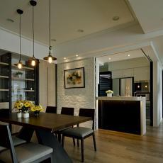 面积137平现代四居餐厅欣赏图片