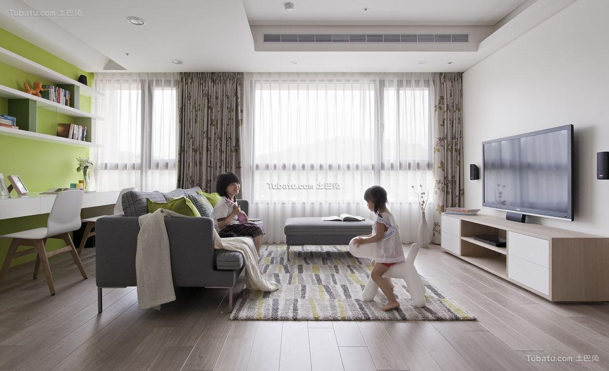 现代北欧风格客厅设计图