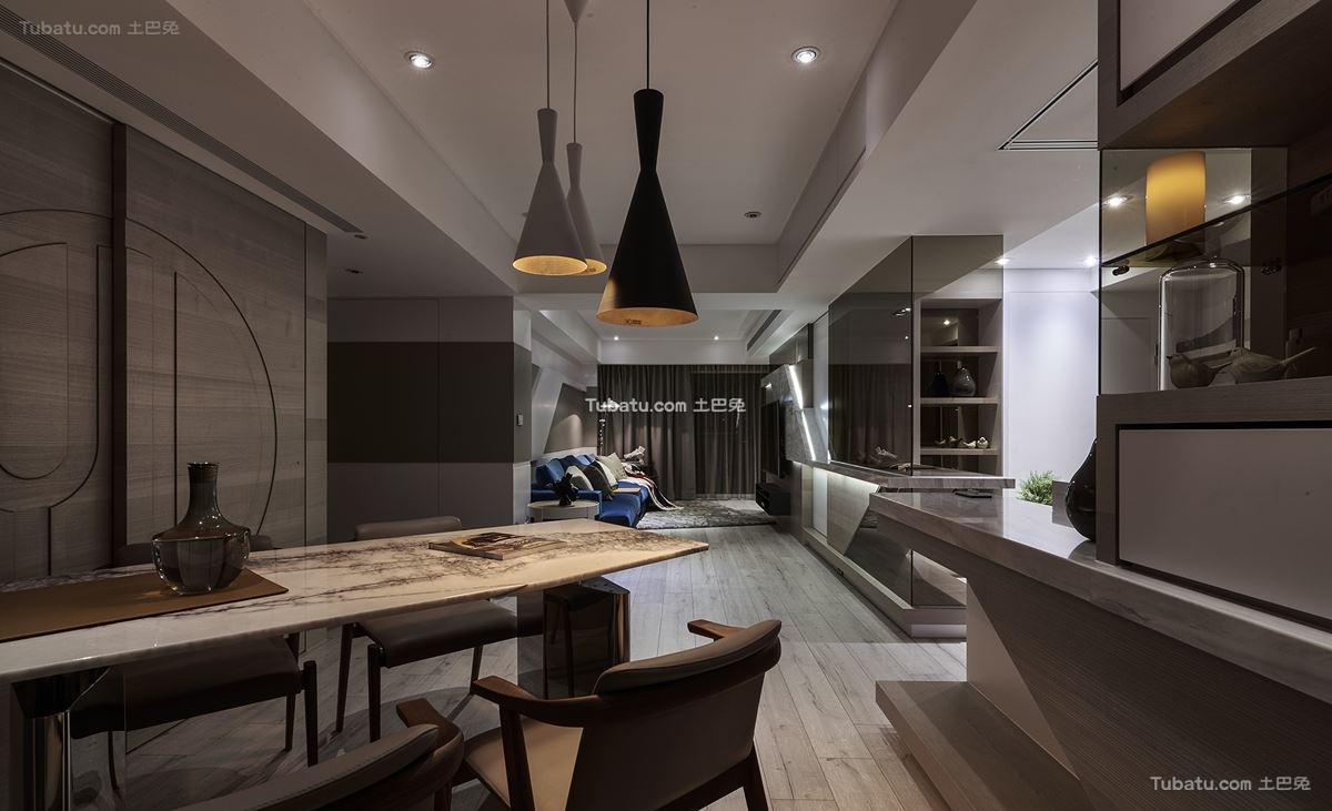 现代家居时尚风餐厅设计