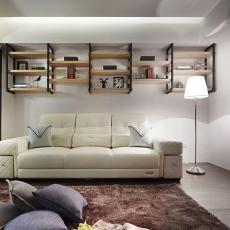 106平米三居客厅现代装饰图片大全