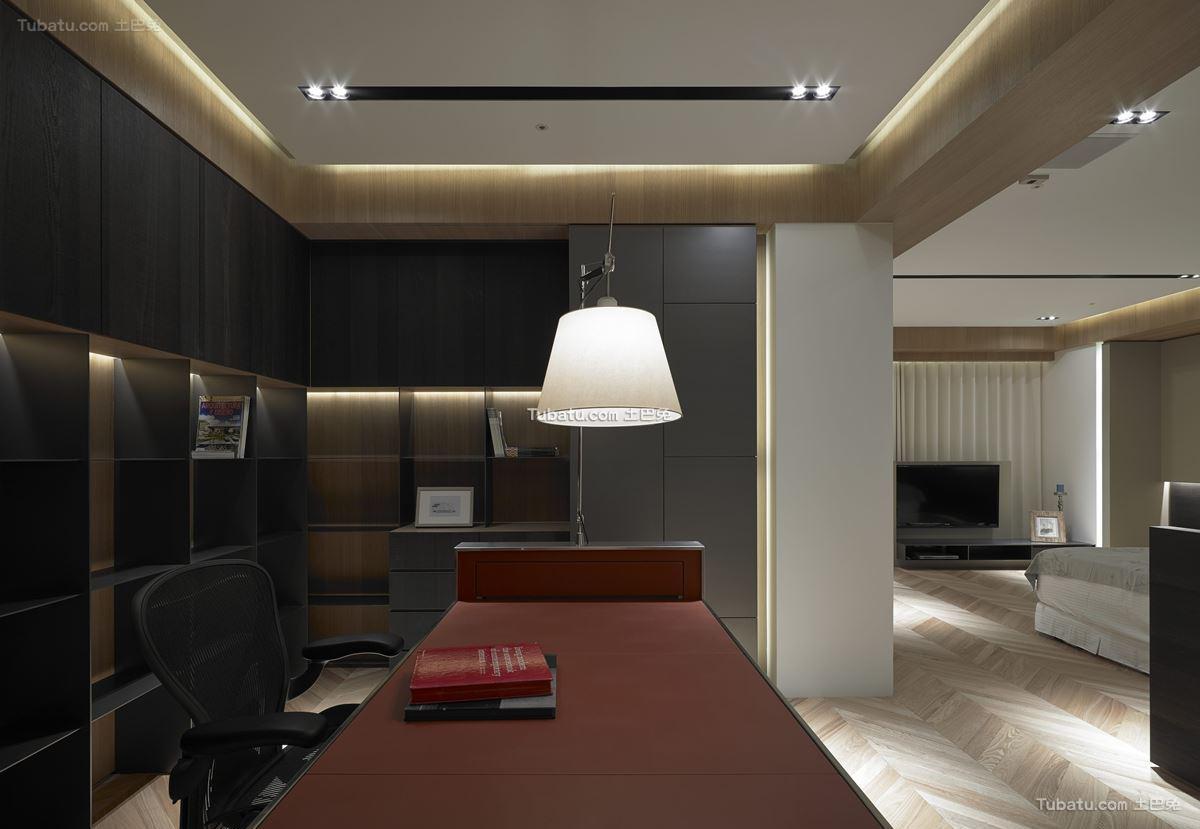 现代家装时尚风书房设计
