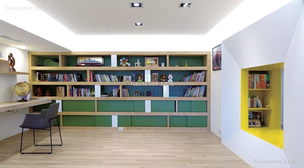 北欧时尚家装书房设计