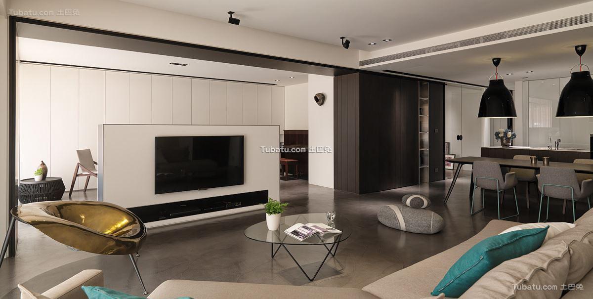 现代家居风三居设计