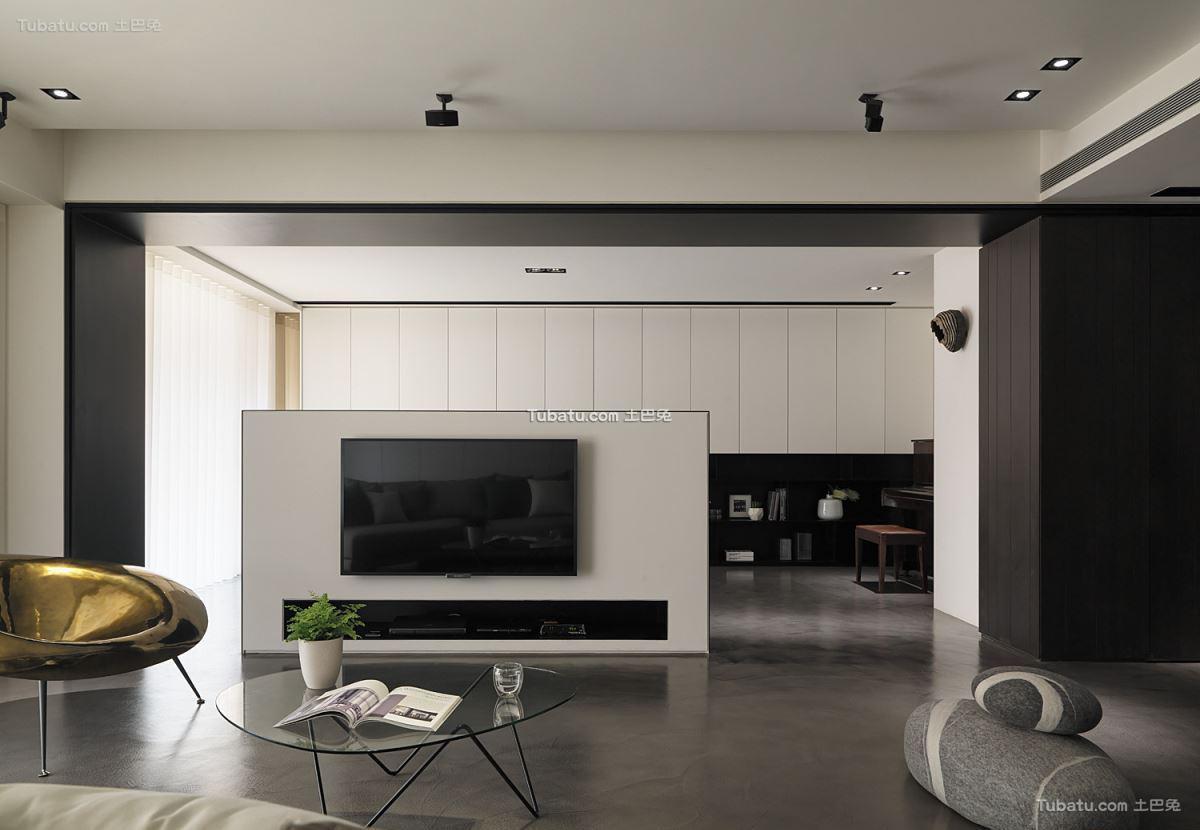 现代家居风背景墙设计