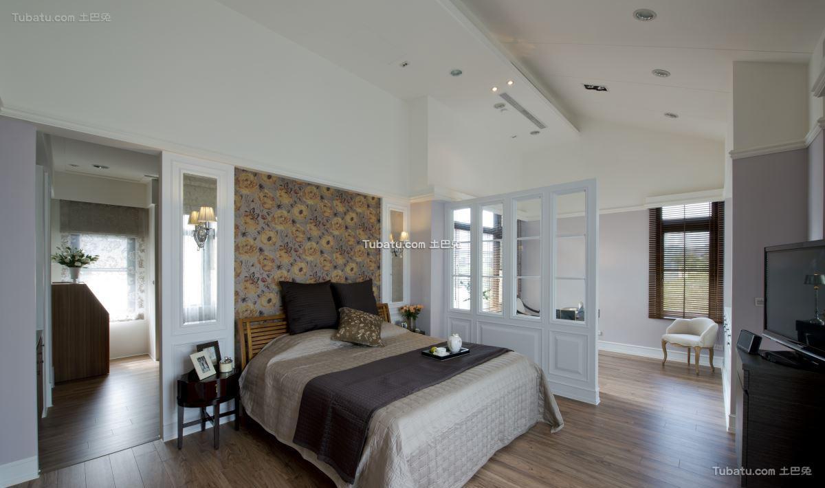 美式时尚风卧室装修图