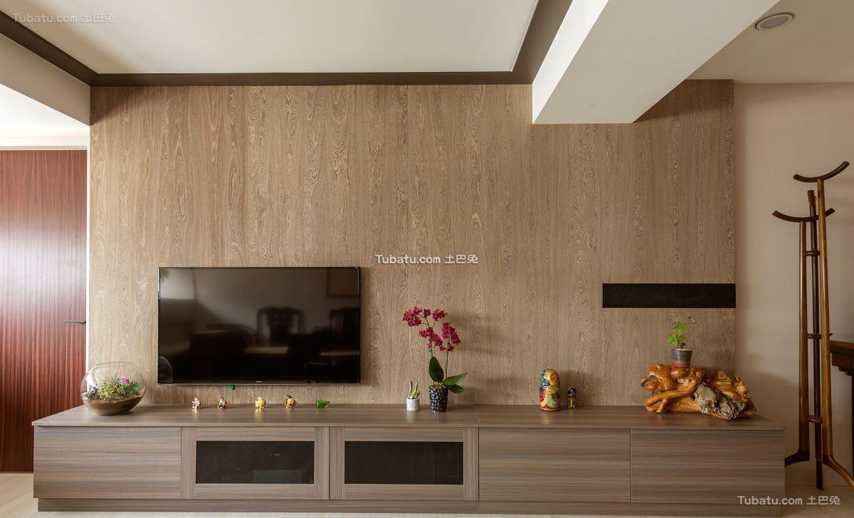 中式时尚格调背景墙设计
