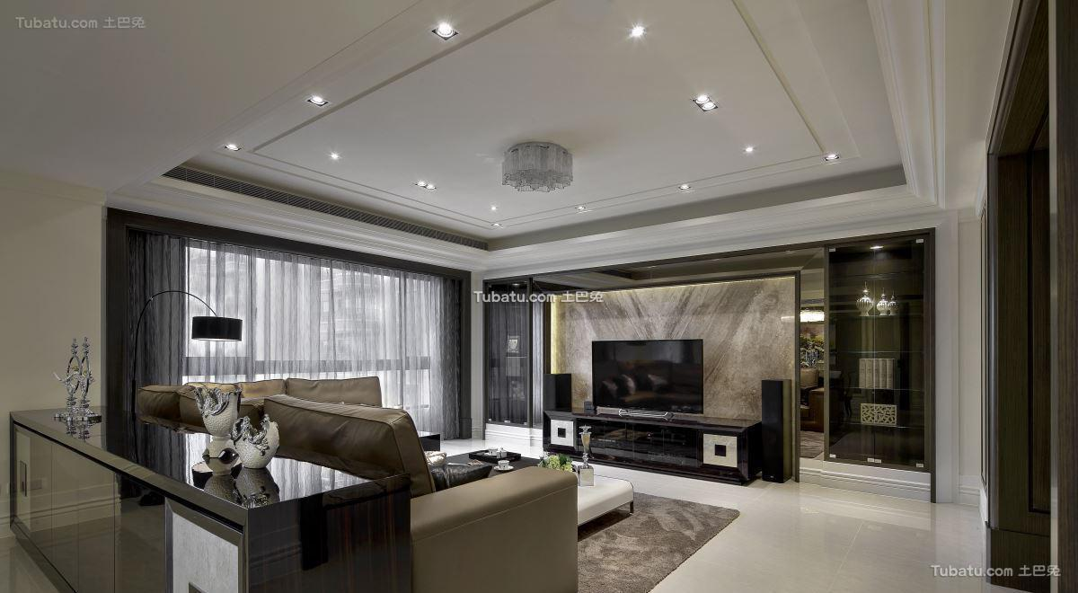 新古典时尚格调客厅设计