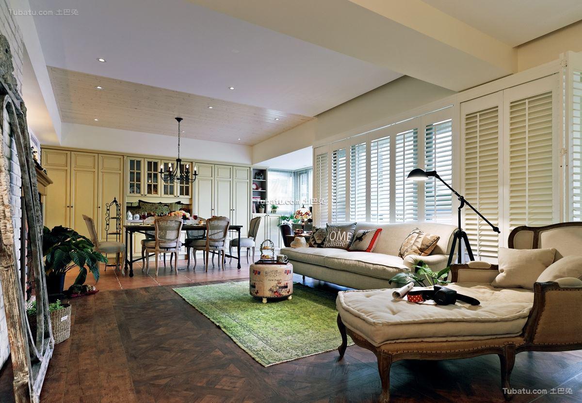 家居美式格调客厅装修