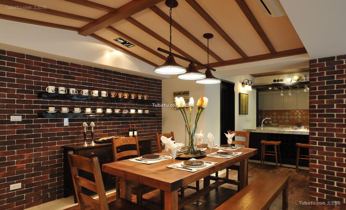 美式家居餐厅设计图