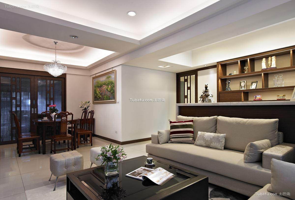 中式时尚家居三居装修图