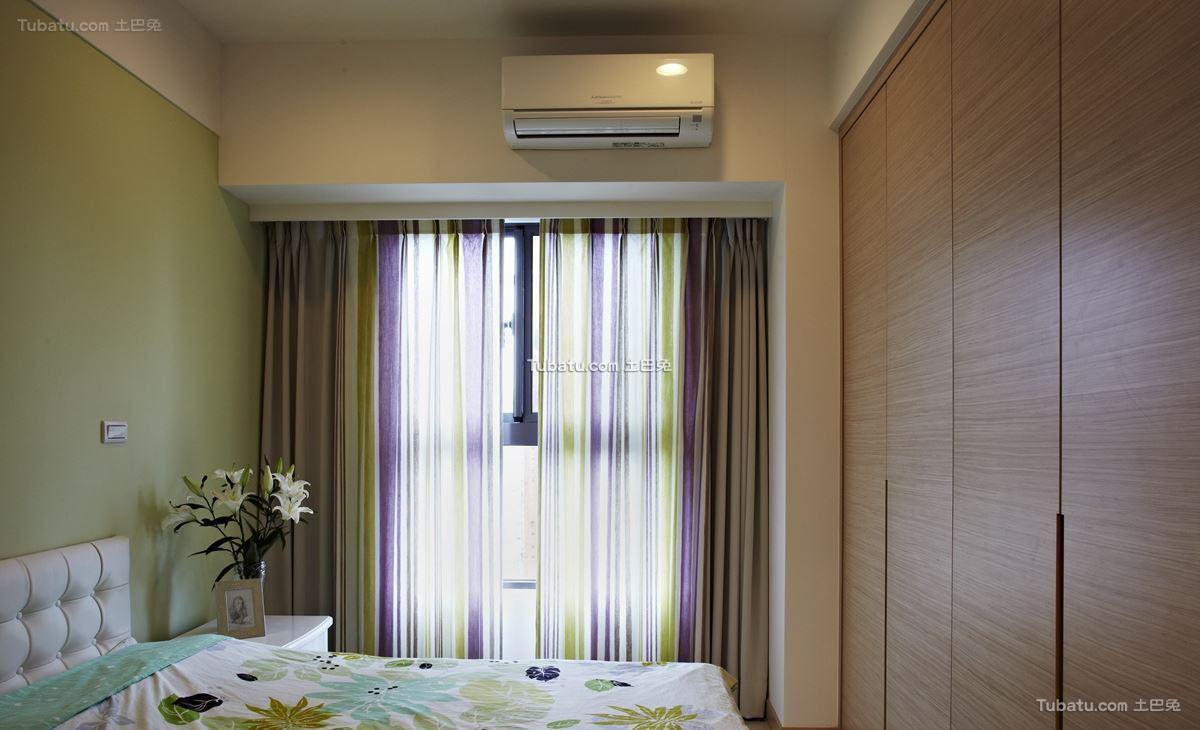 中式时尚家居窗帘装修图