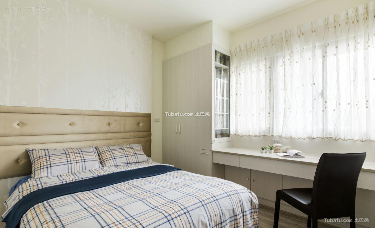 新古典家装风卧室设计图