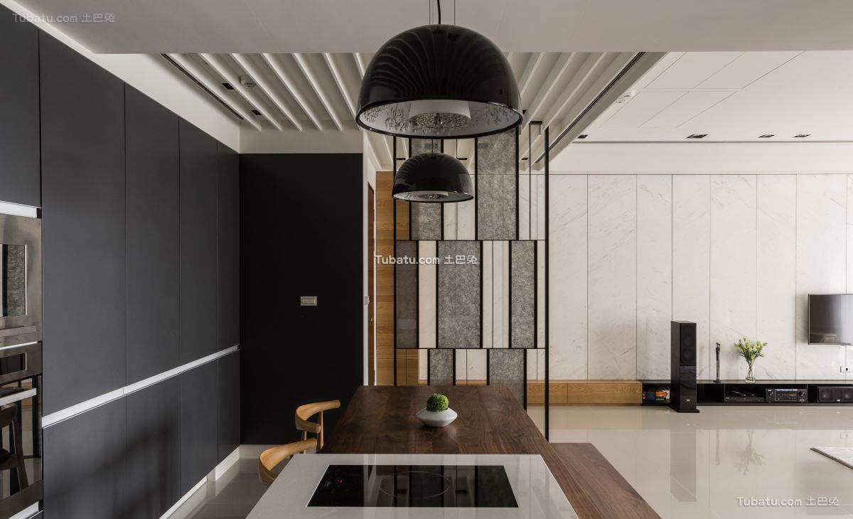 典雅现代风格隔断设计