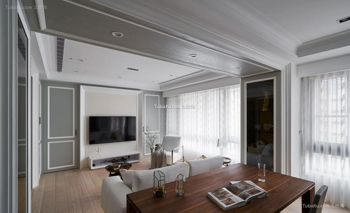 新古典家装风二居设计