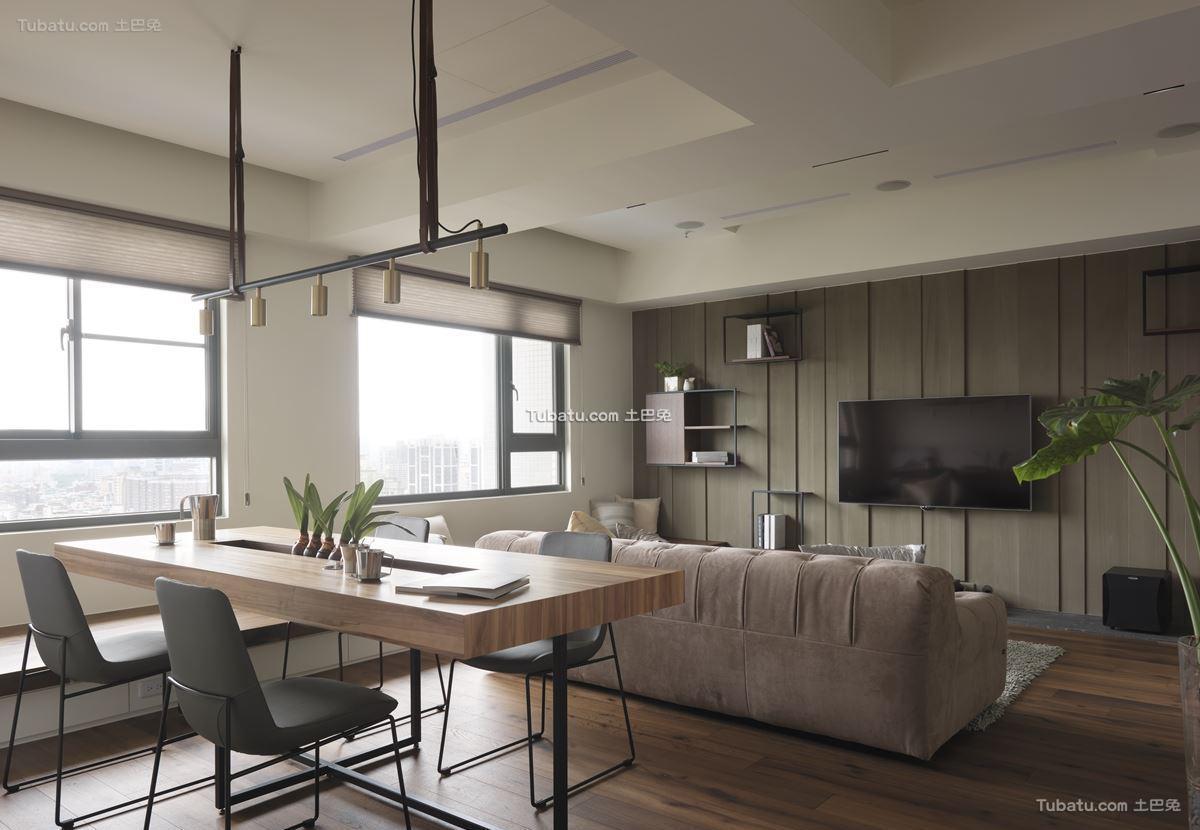 现代风家装二居设计图