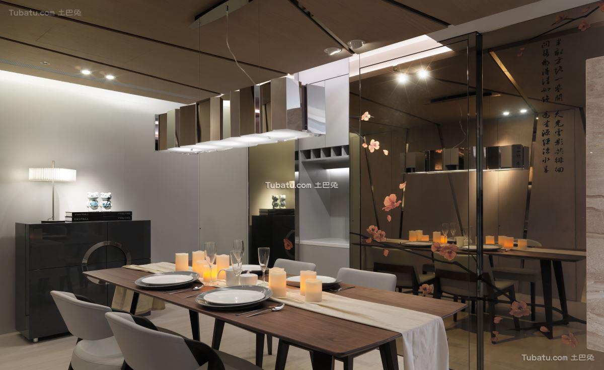 典雅风现代餐厅设计