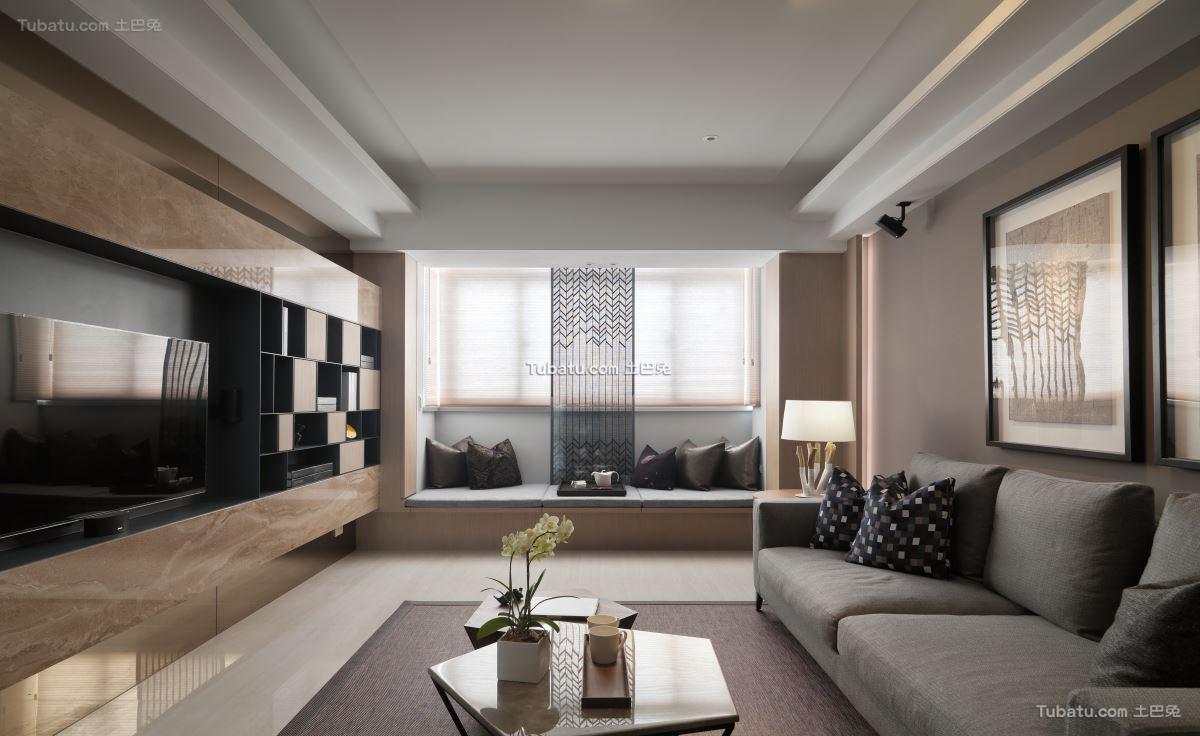 典雅风现代四居设计