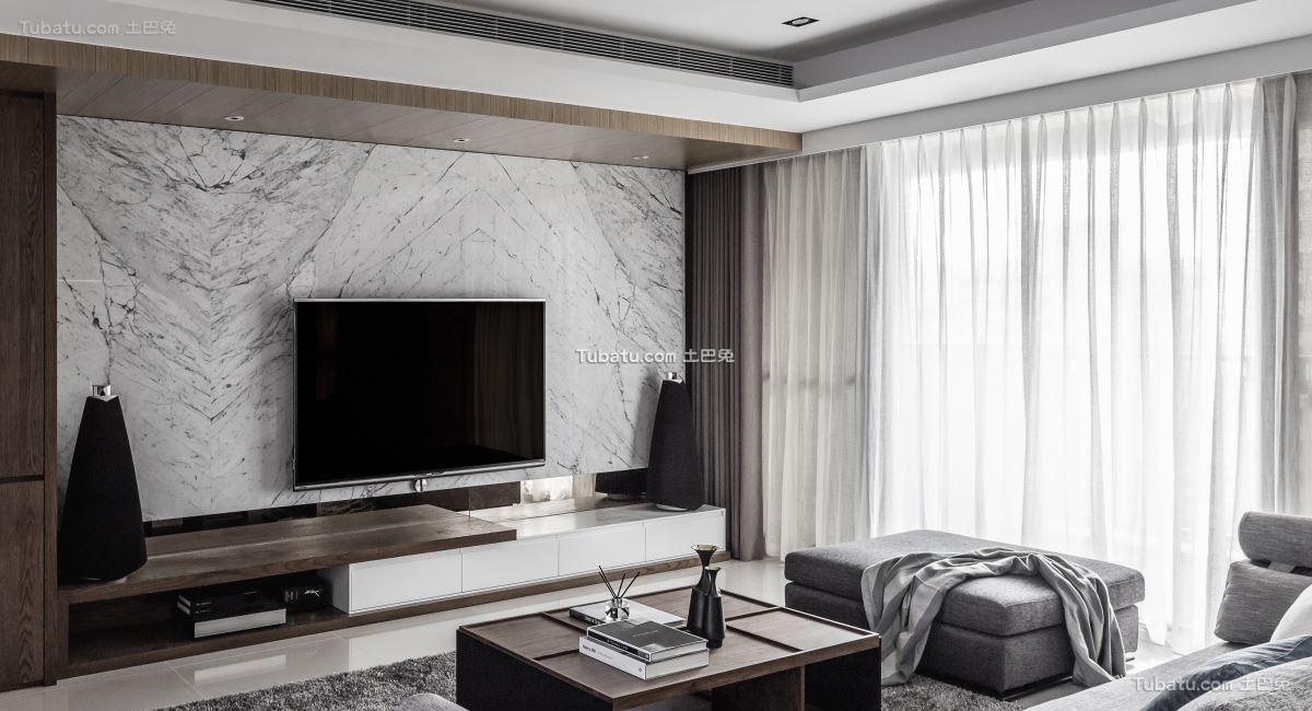 居家现代风格背景墙设计