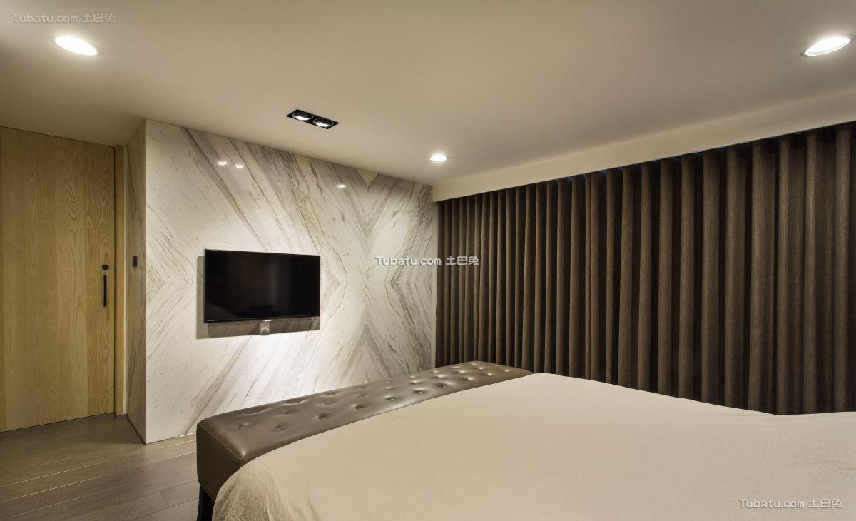 典雅现代风背景墙设计