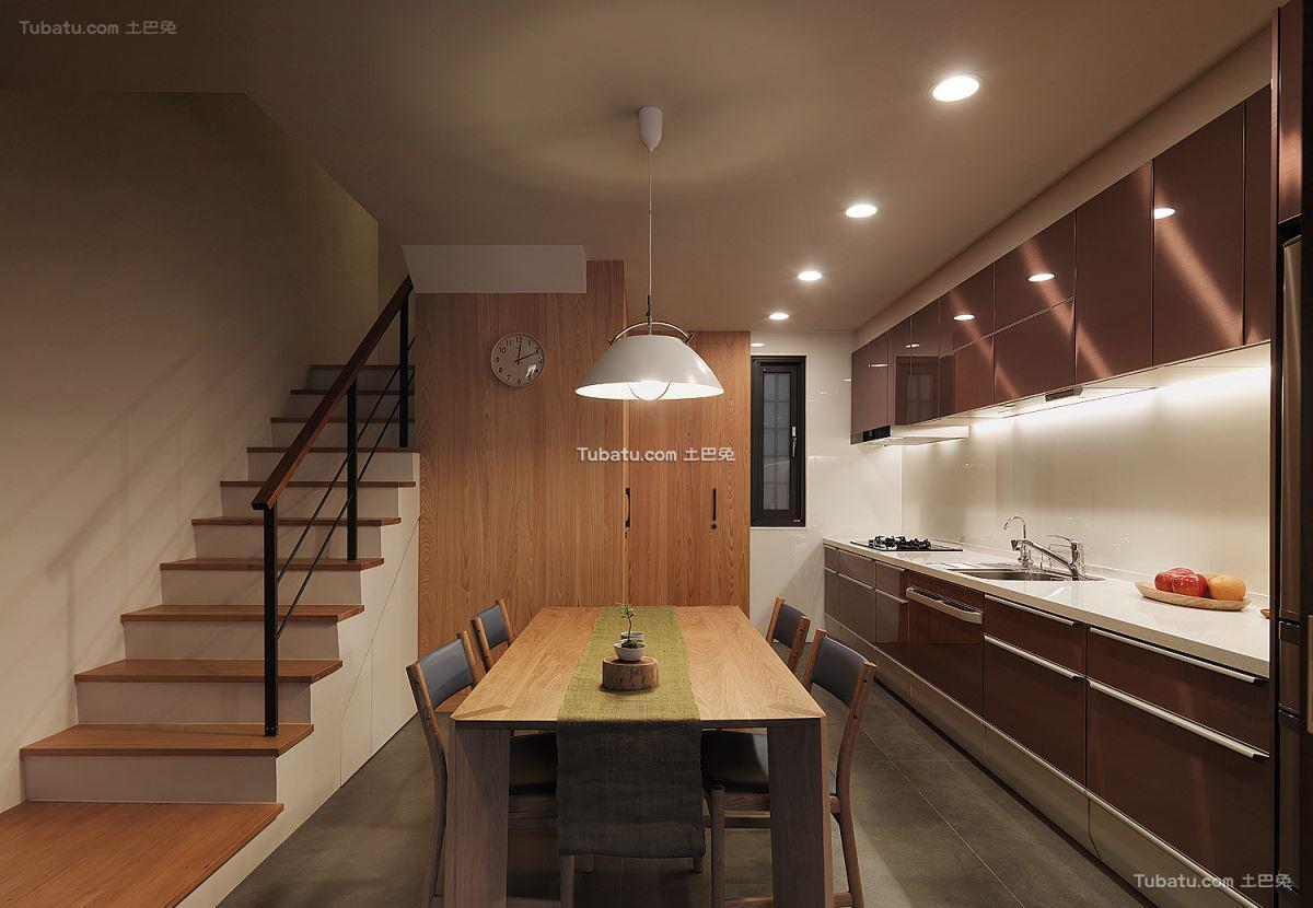 现代厨房餐桌