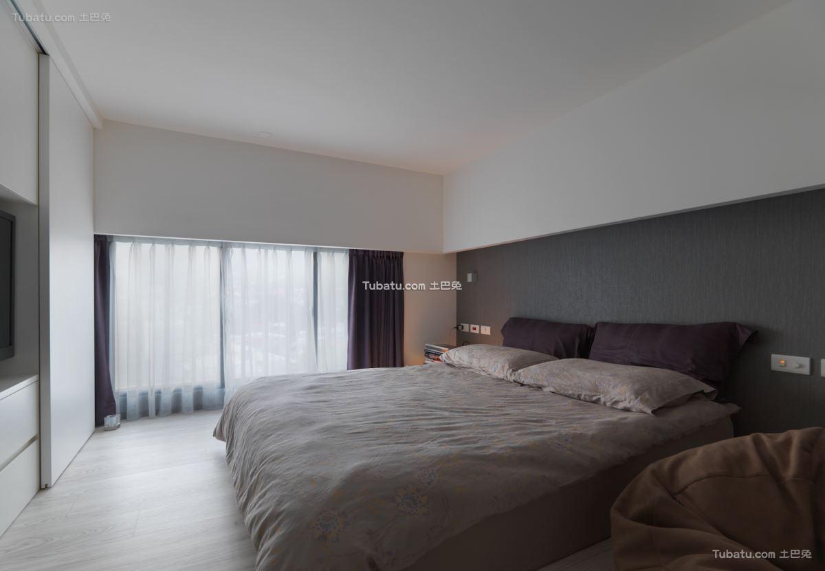 北欧时尚风格调卧室设计图