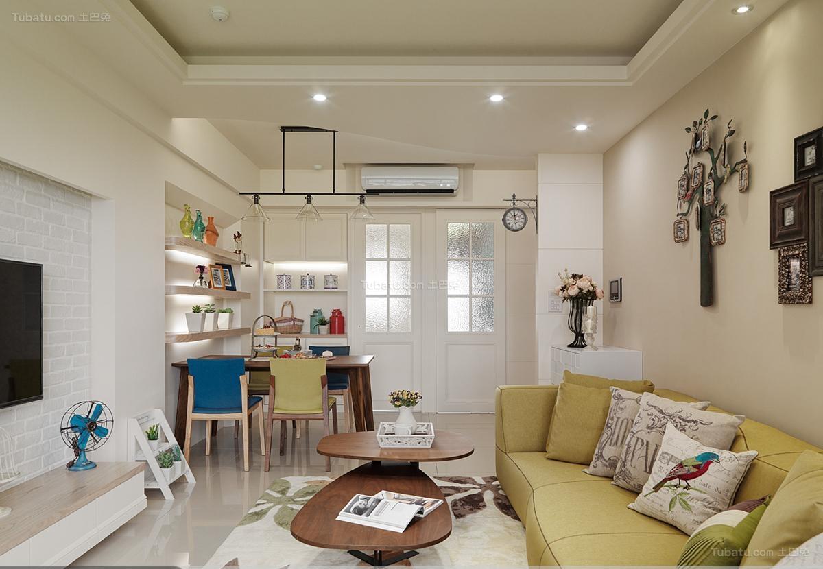时尚家装田园客厅设计