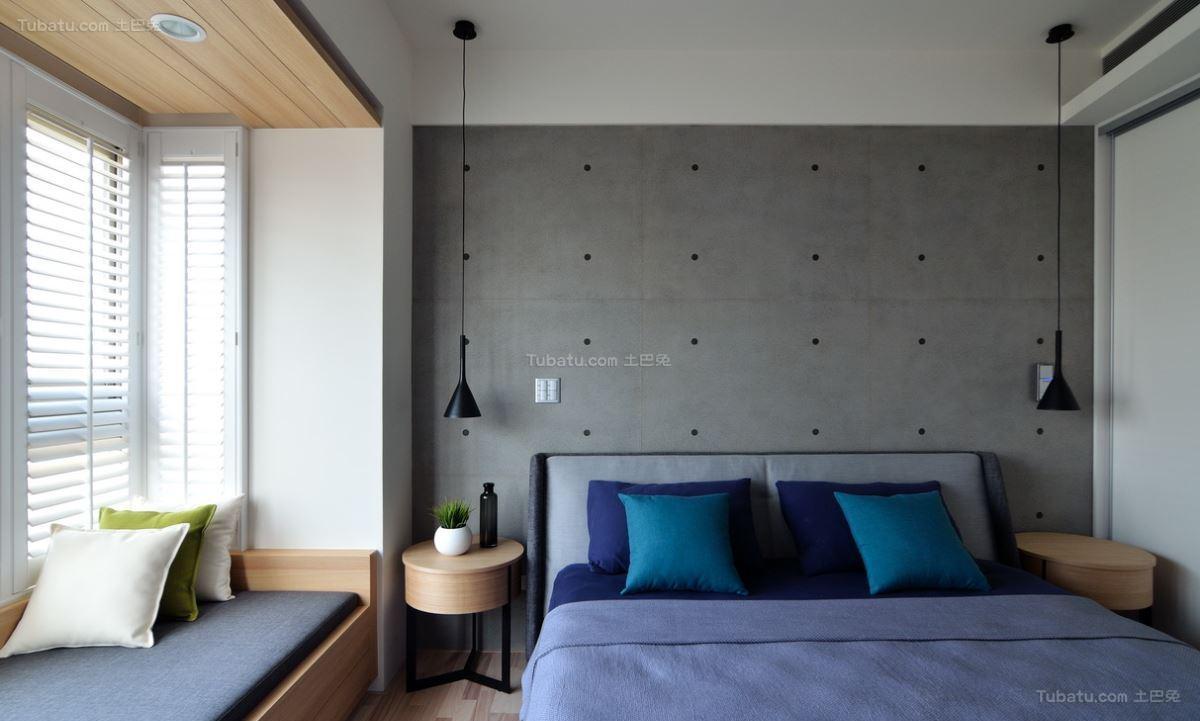 北欧典雅家装卧室效果图