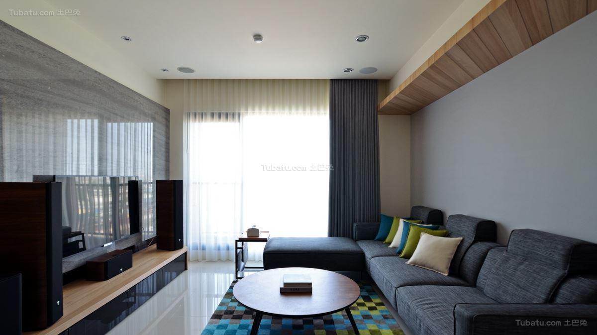 北欧典雅家装客厅效果图
