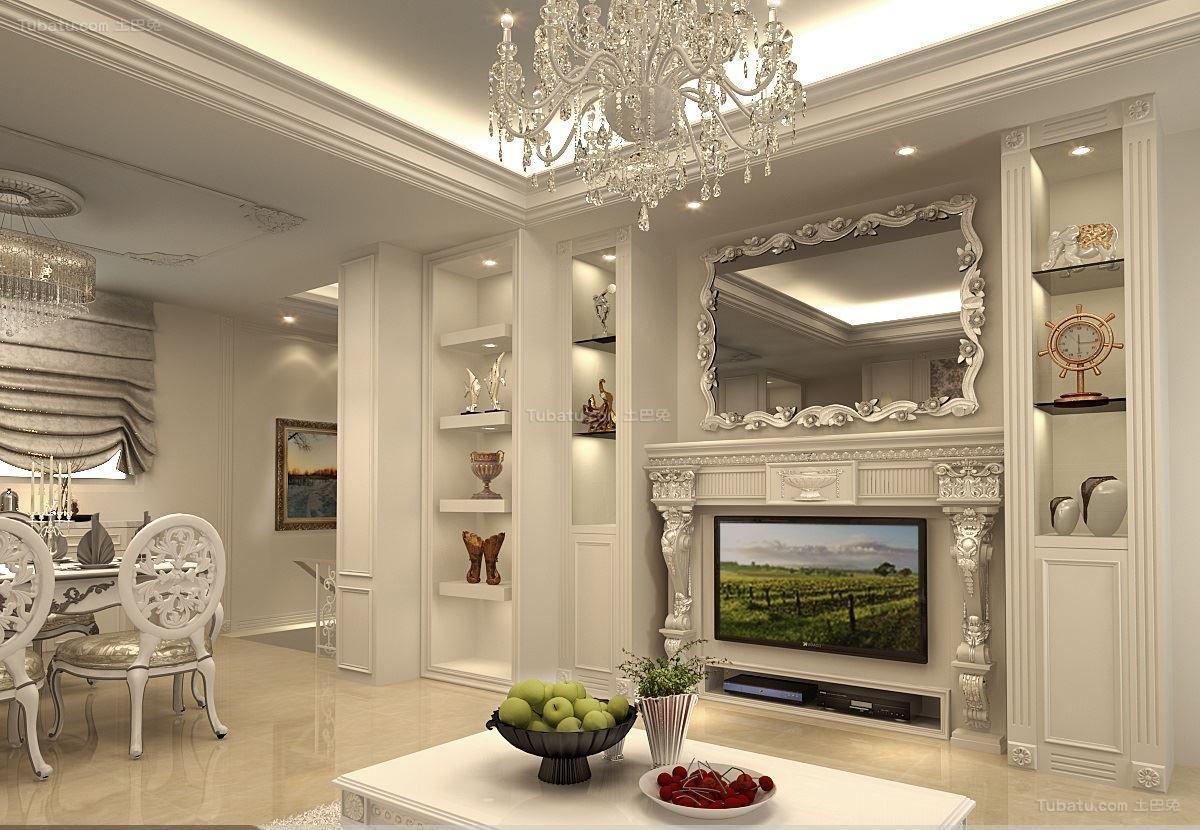 新古典家居风格别墅效果图
