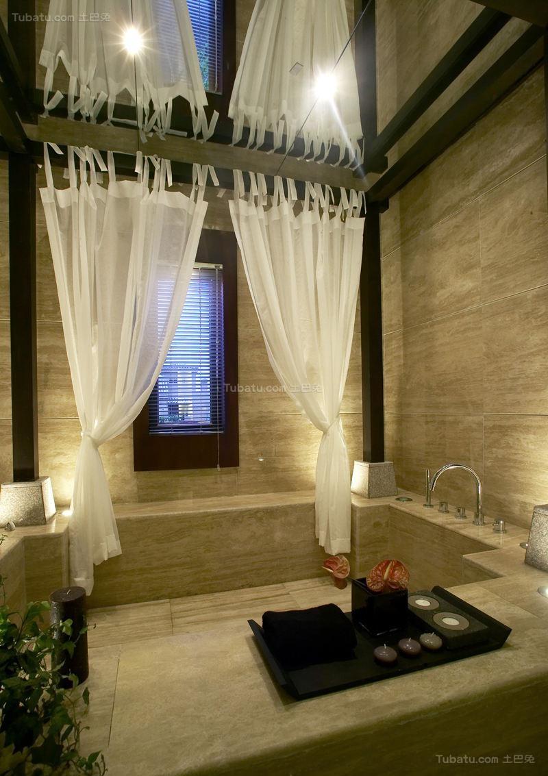 东南亚装修风格浴室设计效果图