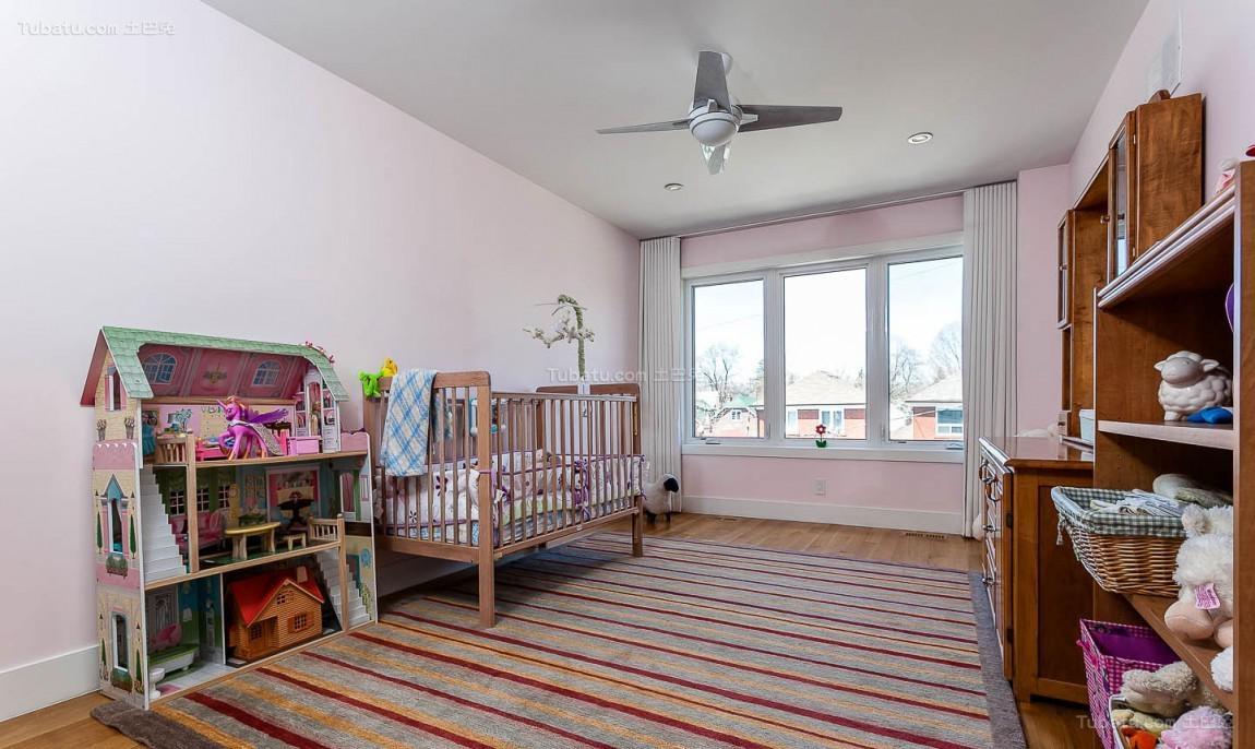 美式温馨儿童房装修效果图