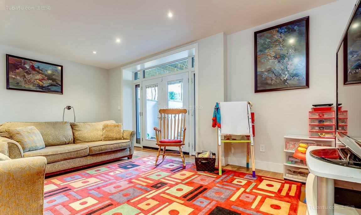 美式创意二居室装修效果图