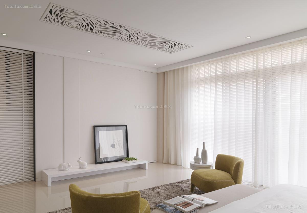 现代雅致客厅窗帘设计效果图