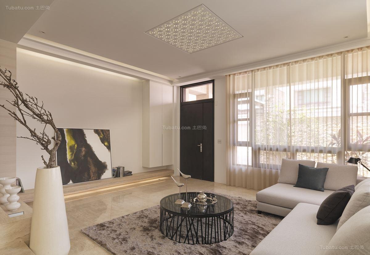 现代雅致装修客厅效果图
