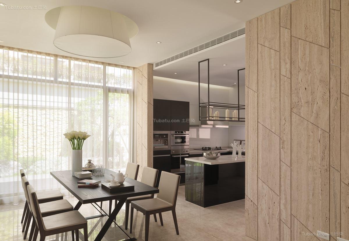 现代雅致家装厨房隔断效果图展示